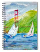 Sailboat Race At The Golden Gate Spiral Notebook