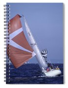 Sailboat Race On Puget Sound Spiral Notebook
