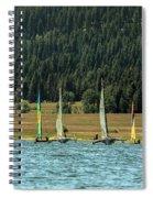 Sailboat Regatta Cascade Lake Spiral Notebook