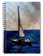 Sailboat Slow W Metal Spiral Notebook