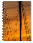 Sailboat Sunrise Spiral Notebook