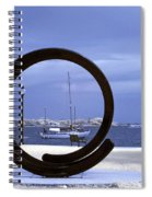 Sailboat Through Omphalos Sculpture Near Infrared Spiral Notebook
