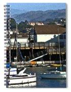 Sailboats Anchored At Mooring Spiral Notebook