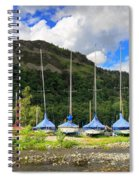 Sailboats At Glenridding In The Lake District Spiral Notebook