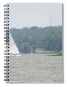 Sailboats At White Rock Lake Spiral Notebook
