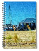 Sailboats Boat Harbor - Quiet Day At The Harbor Spiral Notebook