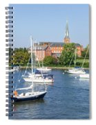 Sailboats By Charles Carroll House Spiral Notebook