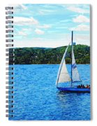 Sailboats In The Summer Spiral Notebook