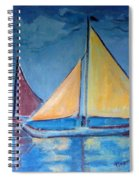 Sailboats With Red And Yellow Sails Spiral Notebook