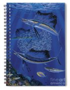 Sailfish Round Up Off0060 Spiral Notebook