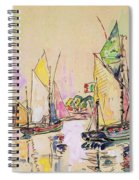 Sailing Boats At Les Sables D Olonne  Spiral Notebook