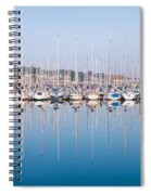 Sailing Boats In The Howth Marina Spiral Notebook