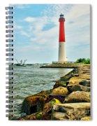 Sailing By Barnegat Light Spiral Notebook