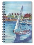 Sailing By Shoreline Village Spiral Notebook