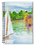Sailing By The Bridge Spiral Notebook