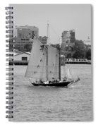 Sailing Free In Black And White Spiral Notebook