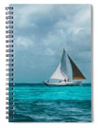 Sailing In Blue Belize Spiral Notebook