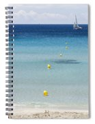 Son Bou Beach In South Coast Of Menorca Is A Turquoise Treasure - Sailing In Blue Spiral Notebook