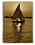Sailing In Sepia Spiral Notebook