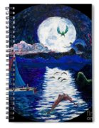 Sailing In The Moonlight Spiral Notebook