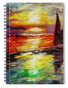 Sailing In The Sunset Spiral Notebook