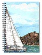 Bay Of Islands Sailing Sailing Spiral Notebook