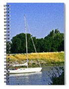 Sailing North On The Sacramento River Spiral Notebook