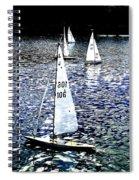 Sailing On Blue Spiral Notebook