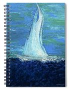 Sailing On The Blue Spiral Notebook