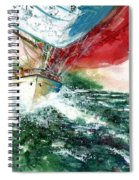 Sailing On The Breeze Spiral Notebook