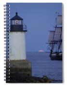Sailing Out For The Red Moon Spiral Notebook