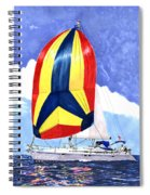 Sailing Primary Colores Spinnaker Spiral Notebook
