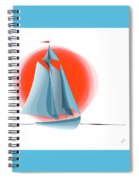 Sailing Red Sun Spiral Notebook