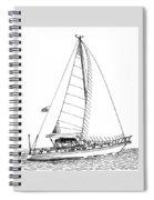 Sailing Sailing Sailing Spiral Notebook