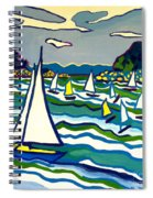 Sailing School Manchester By-the-sea Spiral Notebook