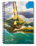 Sailing Ship In A Storm Spiral Notebook