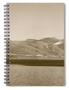 Sailing Ship In The Adriatic Islands In Sepia Spiral Notebook