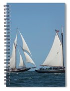 Sailing Ship In The Ocean At Gloucester Spiral Notebook