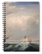 Sailing Ships Off The New England Coast Spiral Notebook