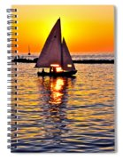 Sailing Silhouette Spiral Notebook