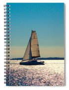 Sailing The Ocean Blue Spiral Notebook