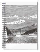Sailing Mount Hood Oregon Spiral Notebook