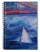 Sailing Under The Golden Gate Spiral Notebook