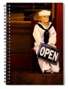 Sailors Welcome Cropped Spiral Notebook
