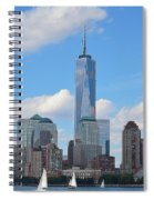 Sails And Skyline Spiral Notebook