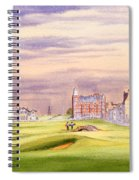 Saint Andrews Golf Course Scotland - 17th Green Spiral Notebook