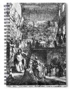 Saint-aubin Louvre, 1753 Spiral Notebook