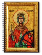 Saint Catherine Of Alexandria Icon Spiral Notebook