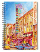 Saint Catherine Street Montreal Spiral Notebook