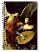 Saint Cecilia And The Angel Spiral Notebook